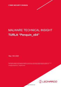 "Malware Technical Insight  Turla ""Penquin x64"""