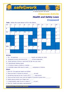 healthsafetylawscrossword