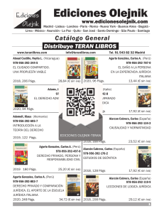 CATALOGO GENERAL  EDICIONES OLEJNIK