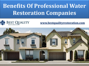 Benefits Of Professional Water Restoration Companies