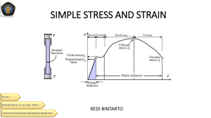 TKM 4211 - LECTURE 2.4  STRESS AND STRAIN