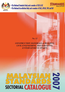 Malaysian Standards 2007
