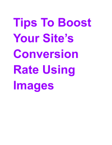 Tips To Boost Your Site's Conversion Rate Using Images