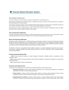 Outcome Based Education System   NEDUET Mathematics Department Website