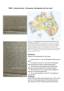 L2 - Using  Sources - Europeans, Aboriginals and the land...  (1)