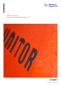 Unitor Immersion Suit 7P Instruction Manual