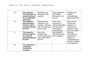 Short Answer Response Rubric(2) (2)