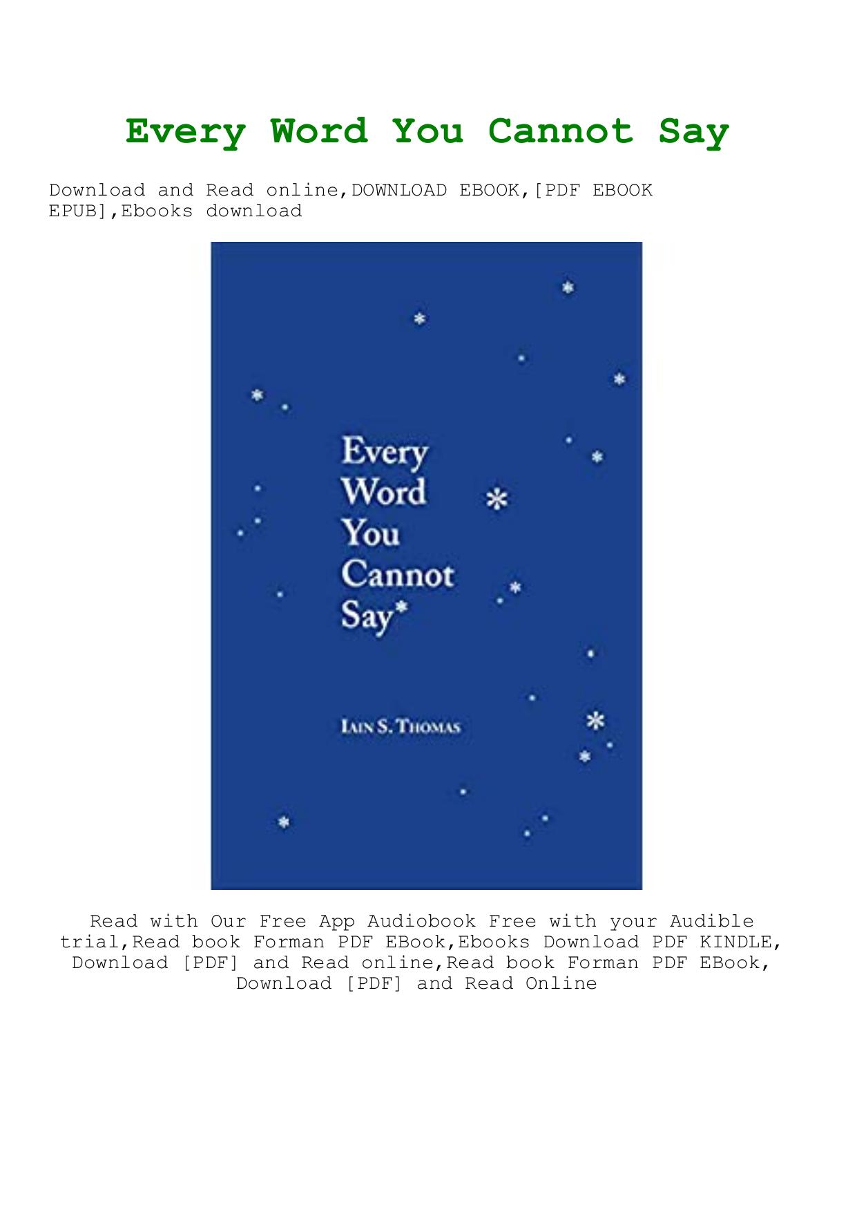 Something To Say PDF Free Download